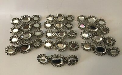 US Seller-lot of 12 pcs wholesale hair barrette with Large crystals