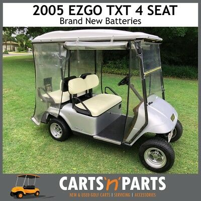 2005 EZGO TXT Grey 4 Seat Golf Cart Buggy Brand New Batteries