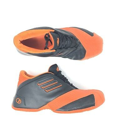 0faa2c686cba95 Adidas Tmac 1 Tracy Mcgrady Black Orange Mens Retro Basketball Shoes Size 12
