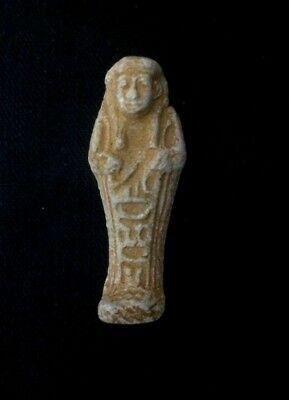 Rare EGYPTIAN ANTIQUES FAIENCE AMULET Ushabti Shabti or Shawabti 2600 to 2100 BC