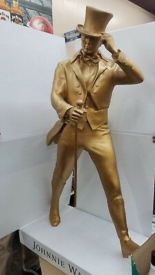 Johnnie walker statue - gold - life size - Limited