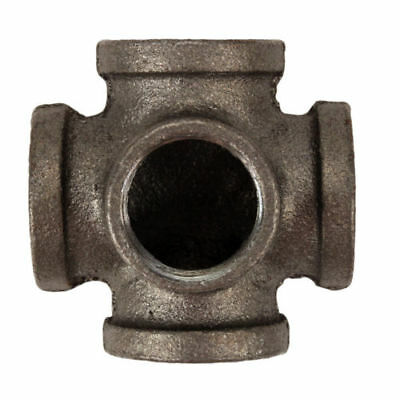 3/4 inch 5 Way Side Outlet Tee BLACK Malleable Cast Iron fitting pipe NPT