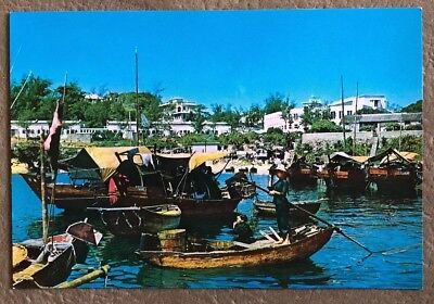 Stanley Hong Kong Where Fishing Boats Moored And Stationed Postcard