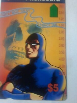 Scarce  $5 Mint Phonecard The Phantom Prefix 1075