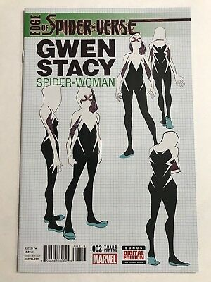 Edge of Spider-Verse #2 Green 3rd Print Variant 1st Gwen Stacy Marvel VF/NM