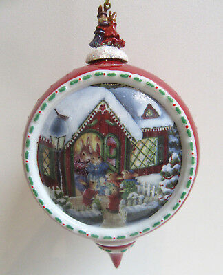 Bradford LET HEAVEN AND NATURE SING Christmas Comes to Holly Pond Hill Ornament