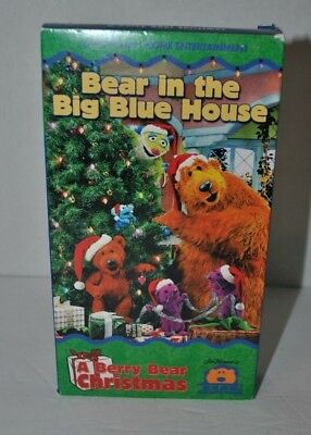 bear in the big blue house a berry bear christmas vhs video tape jim henson - Bear Inthe Big Blue House A Berry Bear Christmas