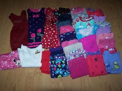 Girls Used Fall/Winter Clothing Size 3/3T Lot of 43 Items