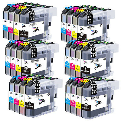 24 PK LC103 XL High Yield Ink Cartridge Combo for Brother MFC-J4710DW MFC-J875DW