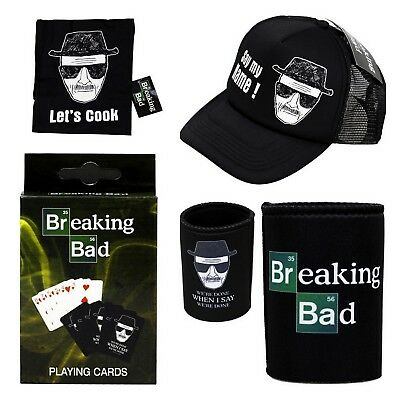 Breaking Bad Gift Pack - Bbq Apron Trucker Cap Beer Can Holder Playing Cards #3