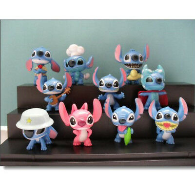 Stitch And Lilo 2020 Action Figure 4 pcs Gift Toy Cake Decoration Free Shipping