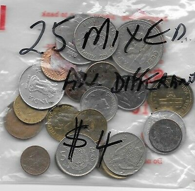 World x 25 Coins All Differant