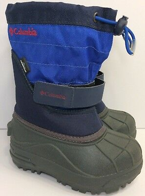 COLUMBIA Toddler Boys Blue POWDERBUG PLUS II Snow Boots-Rated To -25F (Size 8)