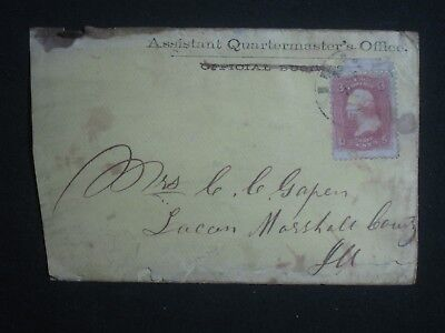 Civil War,Assistant Quartermaster's Office,Cover,Empty,Illigally Used??