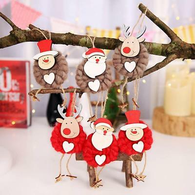 3PCS Lovely Christmas Party Hanging Decor Santa Claus Snowman Xmas Ornaments