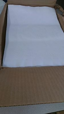 "Hoffmaster White Anniversary St Edge Paper Bond Placemat 10x14"" 1000/cs PM30659"