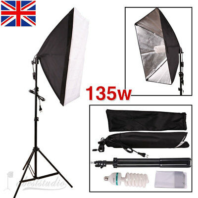 Photography Photo Softbox Studio Continuous Video Lighting Light Soft Box Kit AU