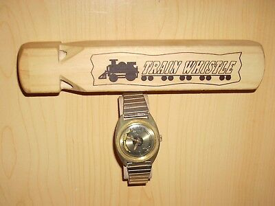 Running Railroad WristWatch with a BIG Train Whistle