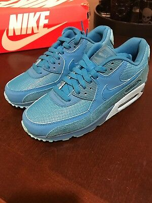Details about Nike Air Max 90 Ultra Essential Blue Women Shoes Size 7.5 724981 401 Running