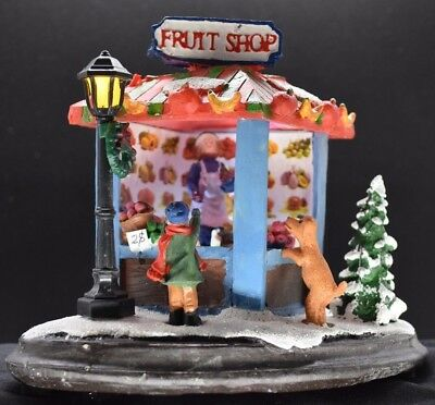 Christmas Scene Fruit Shop