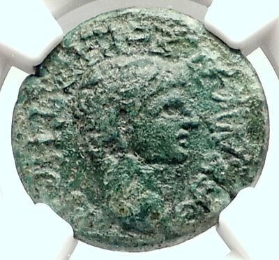 CLAUDIUS Authentic Ancient 41AD THESSALY KOINONRoman Coin ATHENA NGC i72855