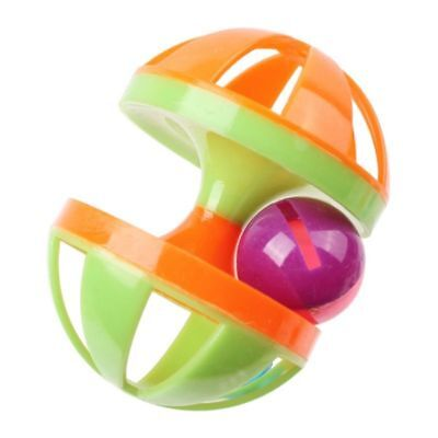 New Pet Cat Puppy Toy Ball Double Bell Play Ball Kitten Interactive Funny Toys