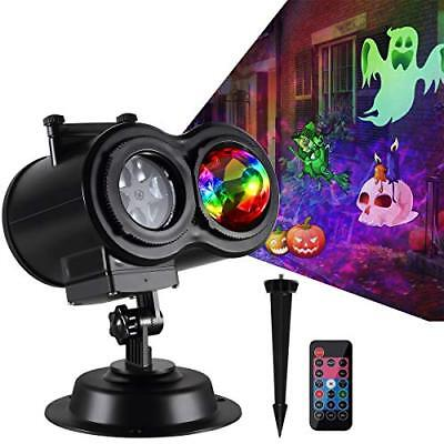 Halloween Decorations Led Projector Lights with Wave Ripple 16 Slides Pattern