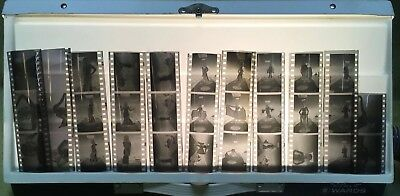 "VINTAGE 35mm Photo Negative Film Strip Lot 31 RISQUE PIN-UP GIRL ""Nude Dancer"""