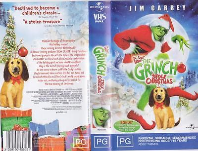 the grinch stole christmas jim carey vhs video pal a rare find - How The Grinch Stole Christmas Vhs