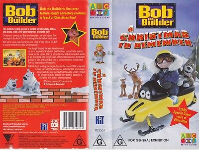 bob the builder a christmas to remember vhs video pal a rare find - Bob The Builder A Christmas To Remember