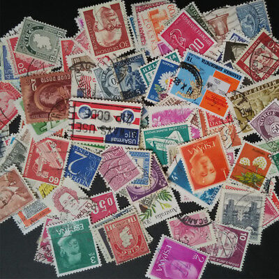 100x Different World Postage Stamps Huge Collection Many Different Countries Lot