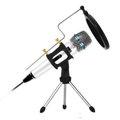 Professional Condenser Microphone Recording with Stand for PC Computer iphone