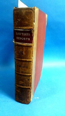 Law Times Reports 1899 - 1900 Volume 81 House of Lords Cases Decided