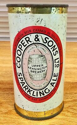 Coopers Sparkling Ale. 13-1/3 FL.OZ. Flat Top. Steel Beer Can.