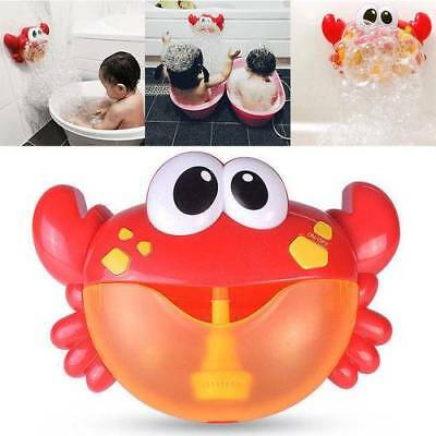 Crab Bubble Maker Machine Musical Bubble Automated Bathroom Baby Toy Shower Time