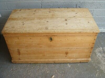 genuine antique victorian pine chest trunk blanket box pine coffee table reduced