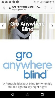 Gro Company Travel Black Out Blind. Hardly Used. 130 X 198cm. RRP £34.99.