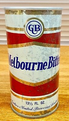 Melbourne Bitter. Hex.13-1/3FL.OZ. Steel Beer Can. Rare Hard To Find Can.