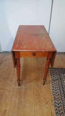 Edwardian Satin Birch Drop Leaf Table