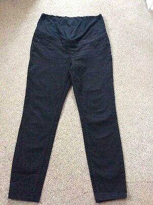 Maternity Size 14 New Look Black Emilee Jeggings Over The Bump