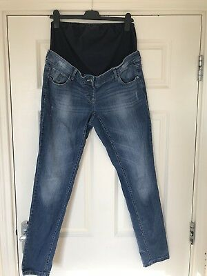 Next Maternity Skinny 12 L Over Bump Jeans Excelent Condition