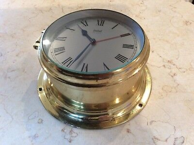 Sestrel Ships Or Yacht Wall Clock With Alarm, In Great Working Order.