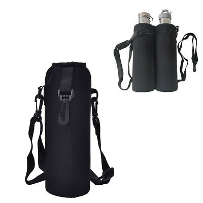 750ML Water Bottle Heat-insulated Cover Holder Carrier Bag Shoulder W/Strap @CS