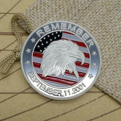 United State Eagle Commemorative Round Coins Bitcoin Silver Plated Coins
