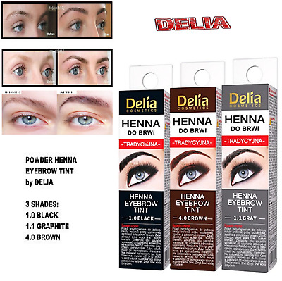 Delia Henna Traditional Eyebrow Eyelashes Professional 2g WITH FAST POSTAGE UK