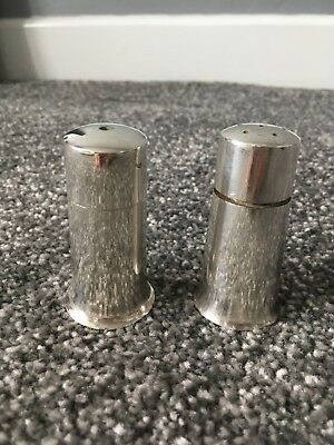 British Army - Military - Vintage Silver Plated Salt and Pepper Shakers - Pots
