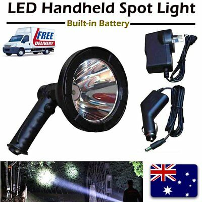 35W CREE LED Handheld Spot Light Rechargeable Spotlight Hunting Shooting T6 12V#