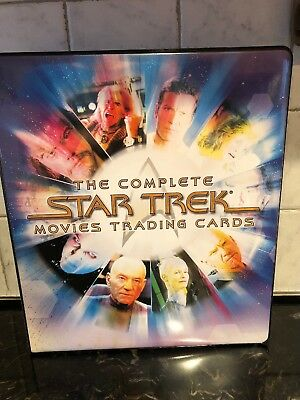 STAR TREK THE COMPLETE MOVIES RA 2007 TRADING CARD ALBUM BINDER And Promo Cards