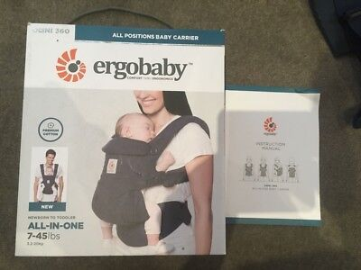Omni 360 Ergo All Positions Baby Carrier. Midnight Blue. Brand New.