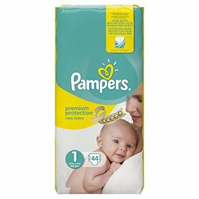 Pampers Premium Protection, Size 1 Newborn (2kg-5kg), 44 Nappies skin protection